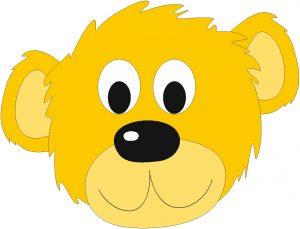 żółty miś